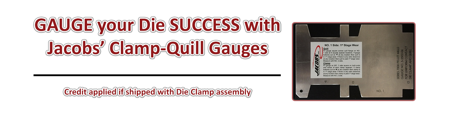 gauge your die success with jacobs clamp quill gauges with credit if shipped with die clamp